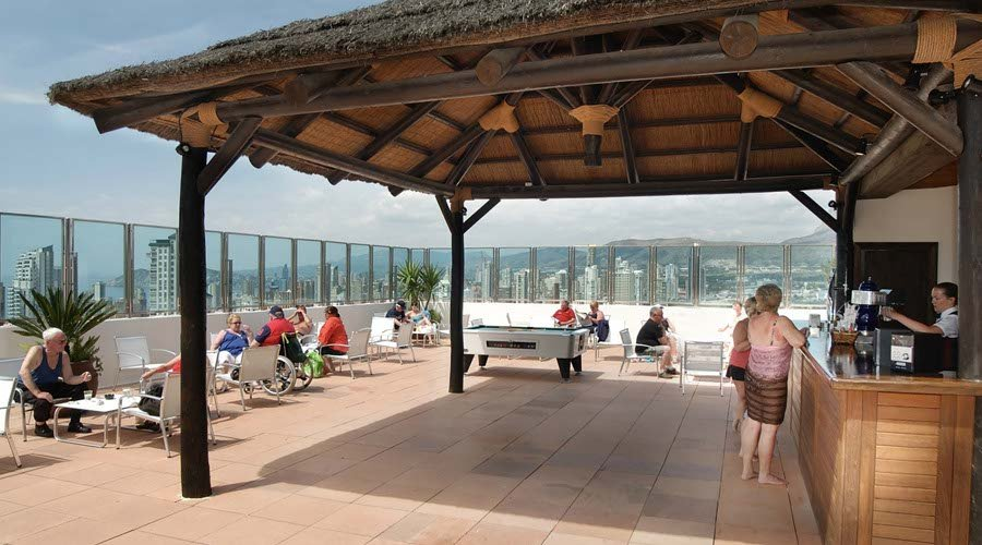 club terrace bar hotel benidorm